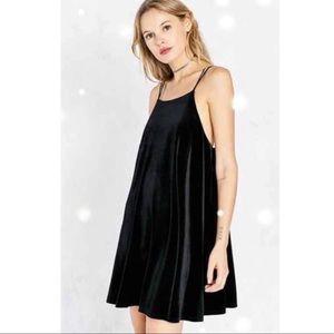 Urban Outfitters Kimchi Blue Velvet Babydoll Dress